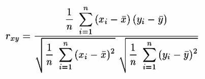 相関係数 計算式
