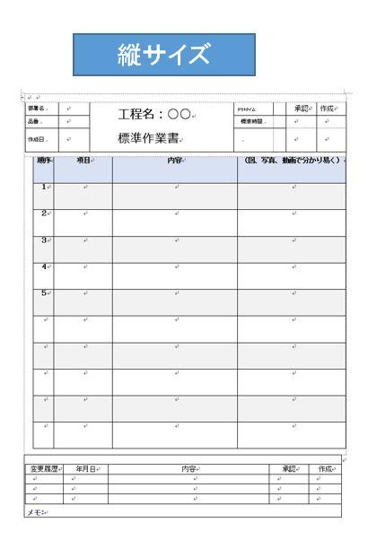 作業標準書の作成| 業務マニュアル作り方 | 日本のものづくり ...