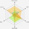 レーダーチャート radar chart