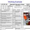 標準作業   standard operation