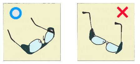 メガネの置き方